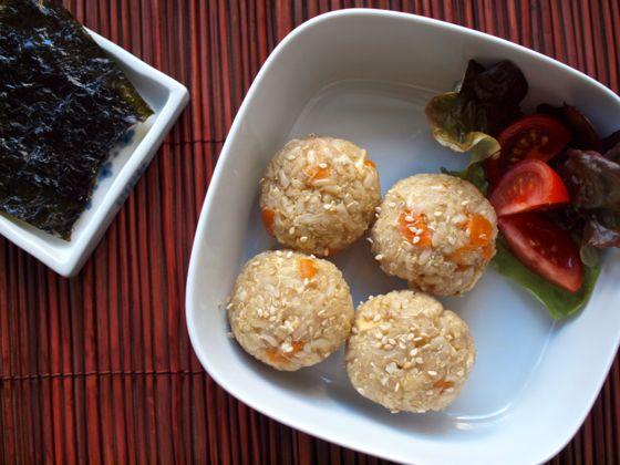 Quinoa and brown rice ball recipe