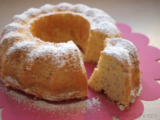 Lemon and Poppy Seeds Chiffon Cake recipe