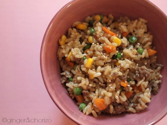 Colourful fried rice recipe