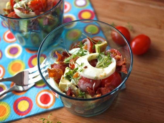 Colourful easter egg salad recipe