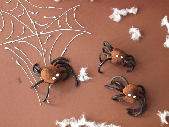 'Spider Truffles' - Halloween recipe