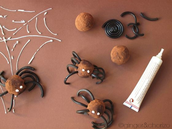 spider truffles - Halloween recipe