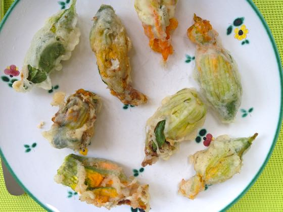 Stuffed courgette flowers recipe