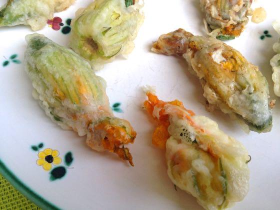 stuffed courgette flower recipe