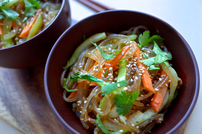 Korean glass noodles -jap chae recipe
