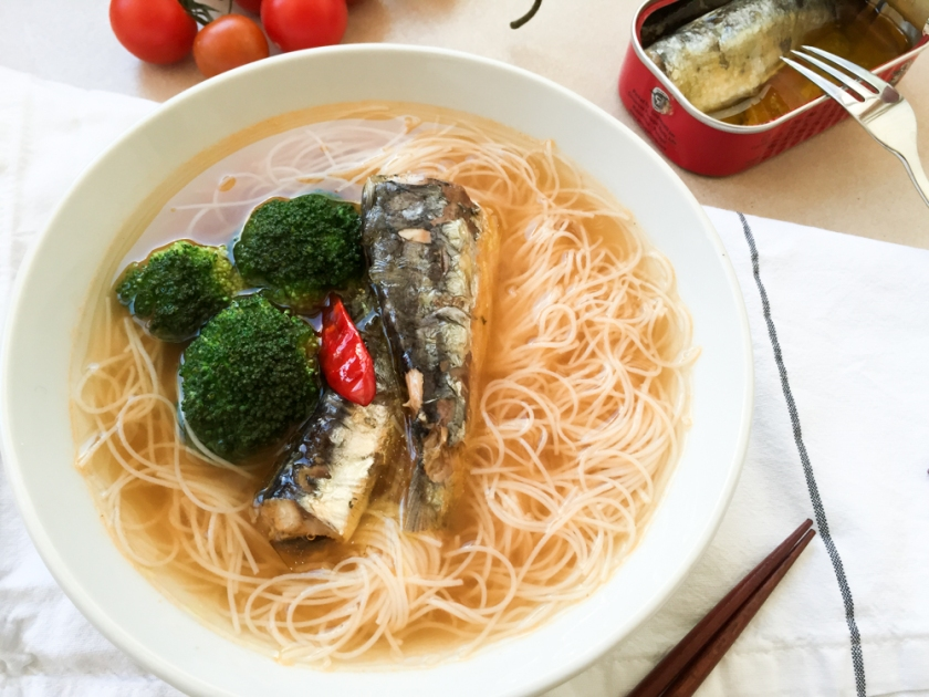 Sardines noodle soup recipe