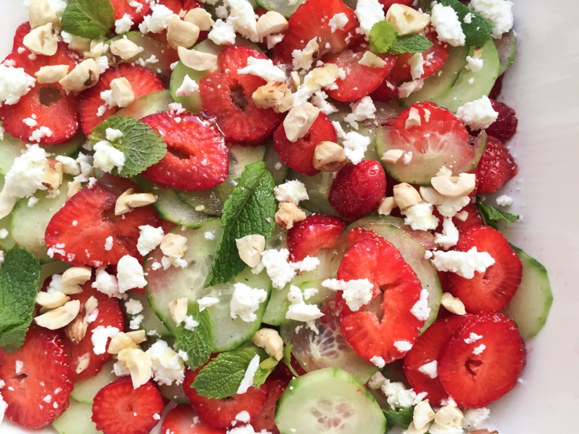 Strawberry and cucumber salad recipe