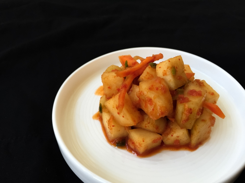 Kohlrabi kimchi recipe