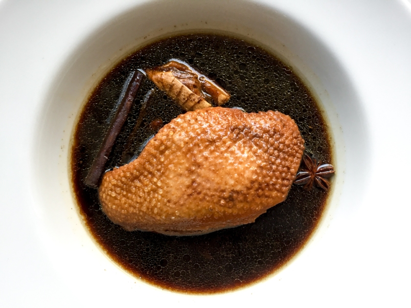 Soy Poached Duck Breast recipe
