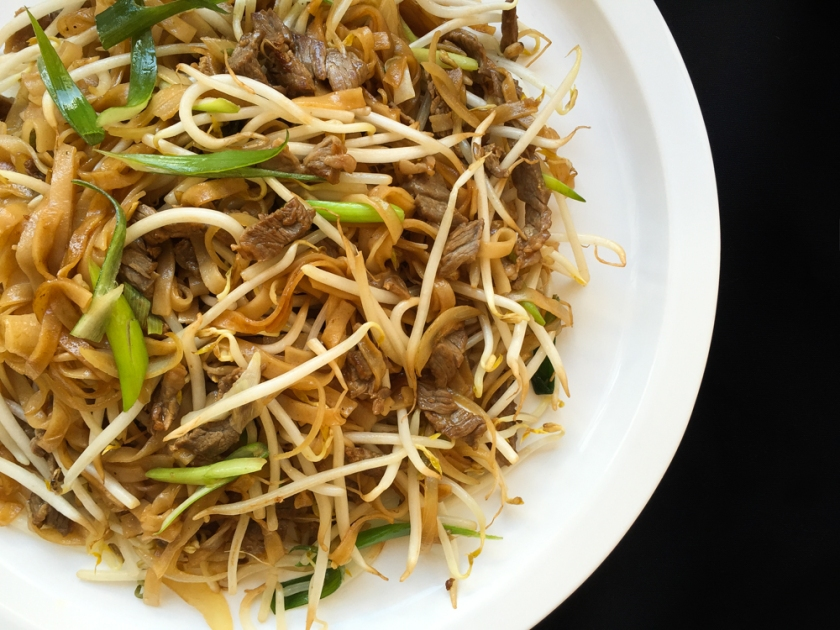 Stir-Fry Beef Rice Noodles Cantonese Style