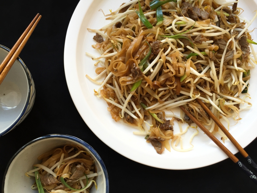 Stir-Fry beef rice noodles Cantonese style recipe