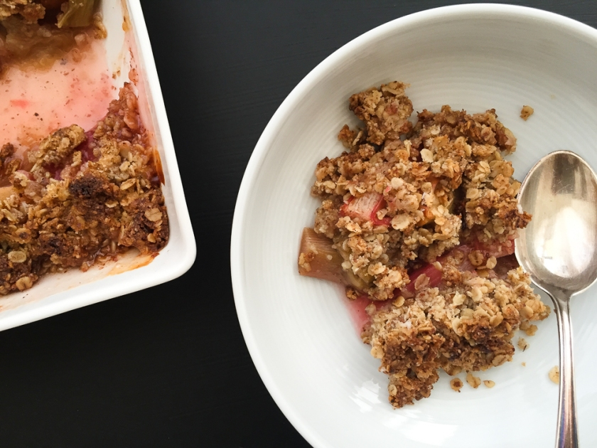 gluten free rhubarb and apple crumble recipe