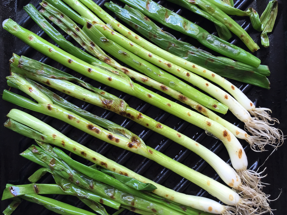 Tamari Maple Noodles with Grilled Spring Onions recipe