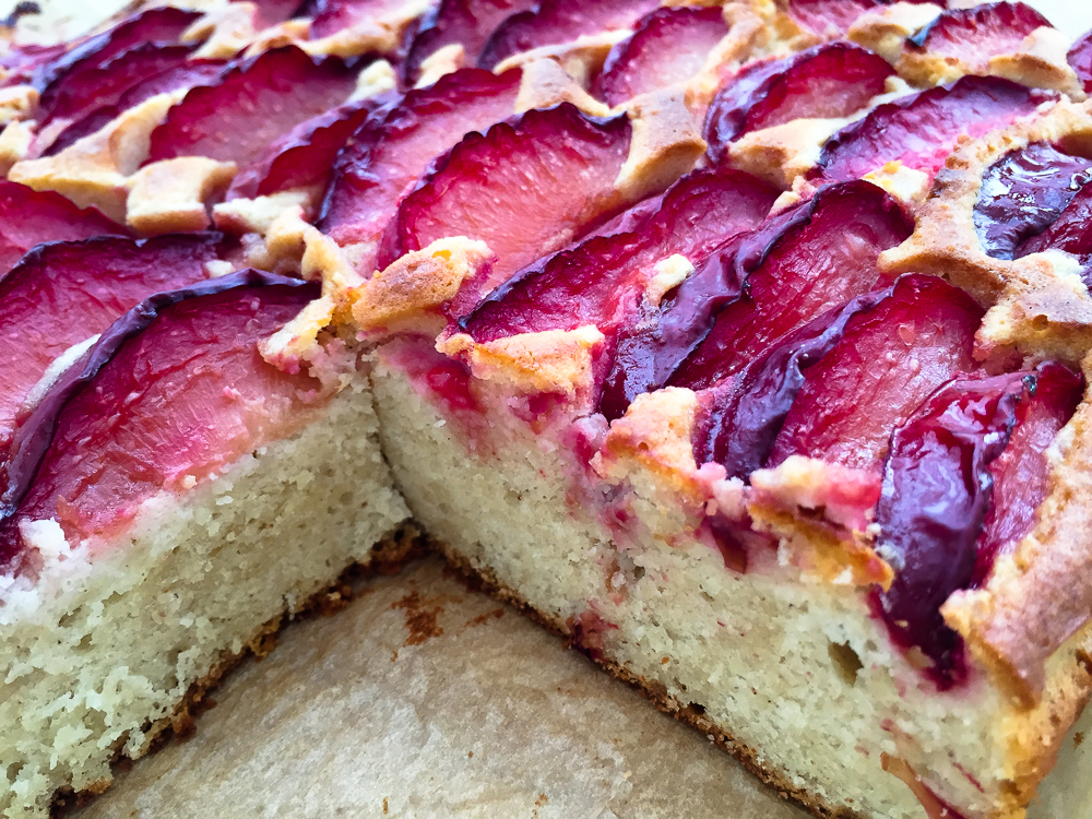 Lemon Plum Cake Recipe