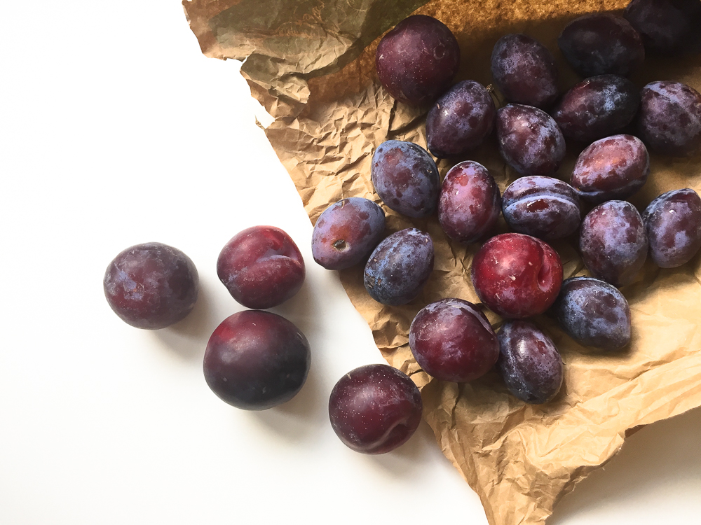 Stewed Plums with Maple Syrup and Cinnamon recipe