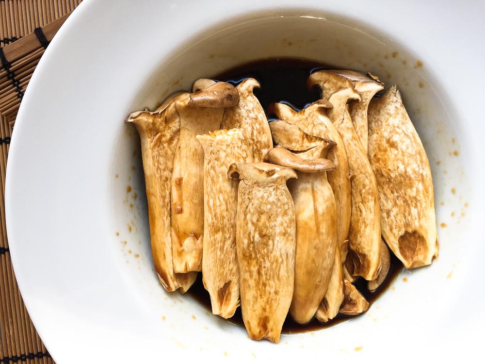 teriyaki king oyster mushroom recipe