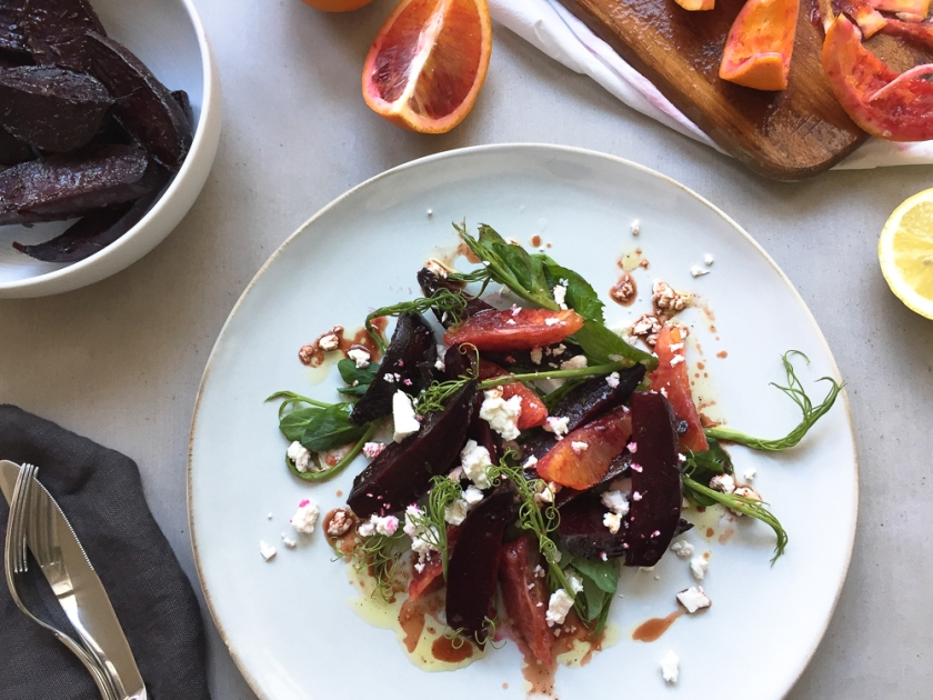 Roasted Beetroot Blood Orange and Feta Cheese Salad recipe