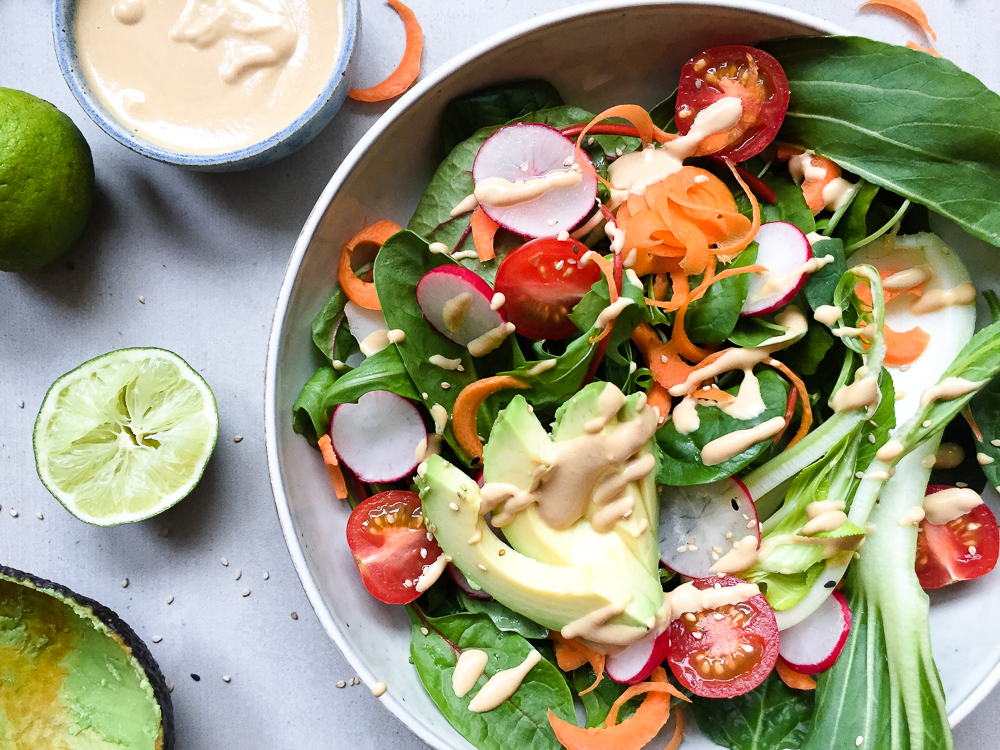Miso Tahini Dressing recipe and Styling Project