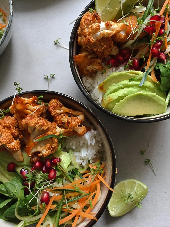 Roasted Gochujang Cauliflowers Rice Bowl recipe