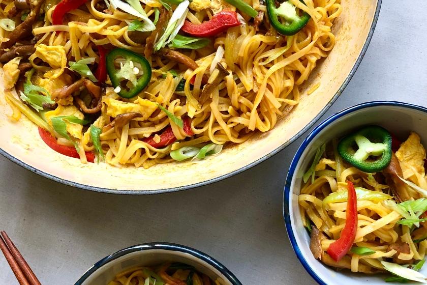 Vegetarian Singapore Noodles recipe