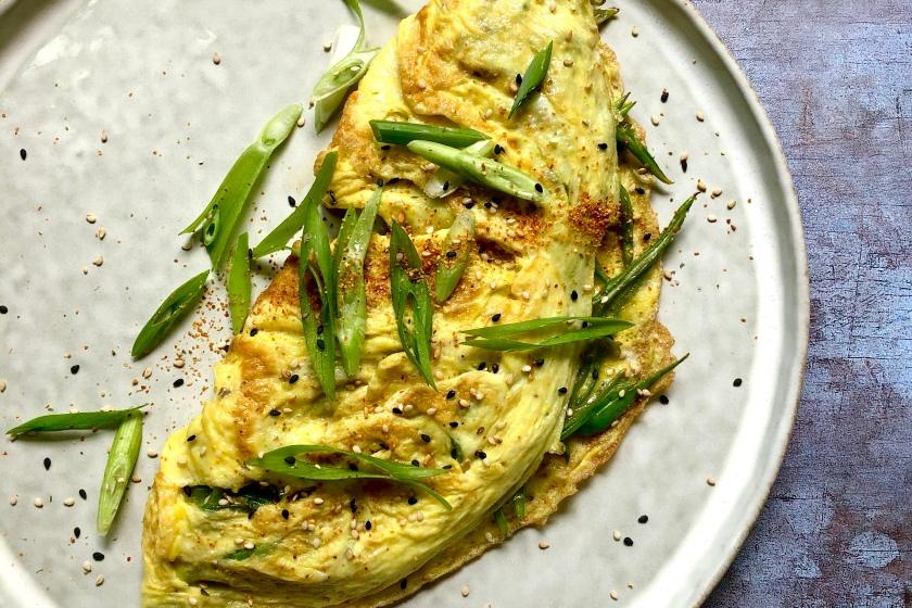 omelette with runner beans recipe